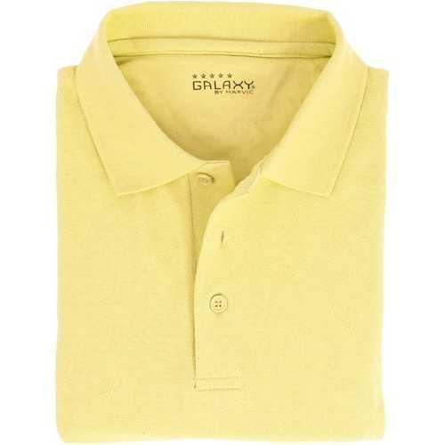 Case of [36] Adult Short Sleeve Yellow Polo Shirts - Sizes M-XXL