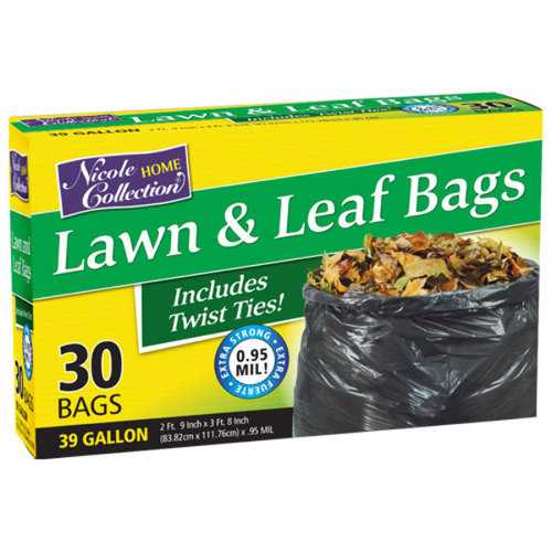 Case of [10] 39 Gallon Lawn & Leaf Bags 30-Packs - Nicole Home Collection