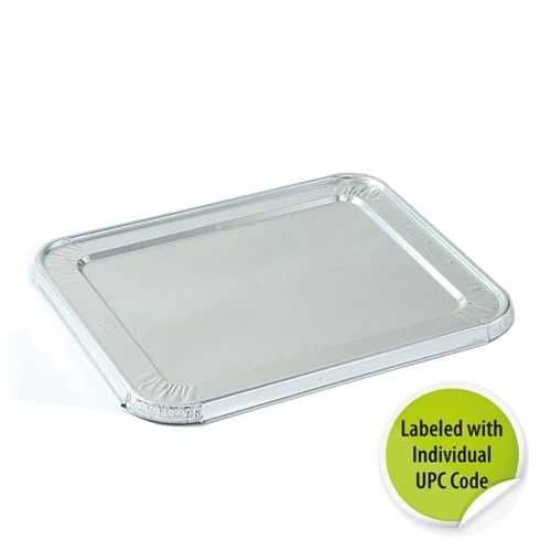 Case of [100] 1/2 Size Aluminum Lid - Individually Labeled with Upc - Nicole Home Collection