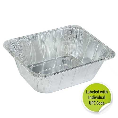 Case of [100] Aluminum 1/2 Extra Deep Pan - Individually Labeled with Upc - Nicole Home Collection