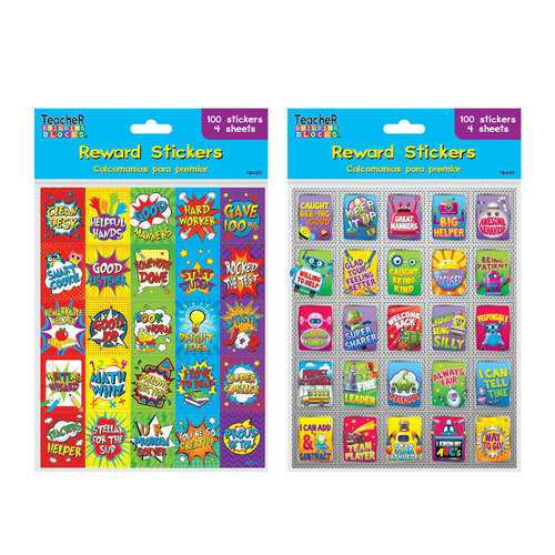 Case of [12] 100 Count Educational Fun Reward Stickers