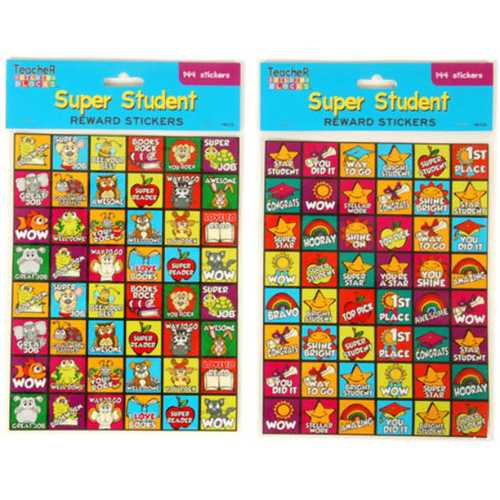 Case of [12] 144 count Super Student Reward Stickers