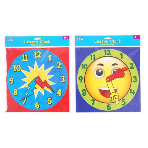 Case of [12] Jumbo Wall Lesson Clock Dial