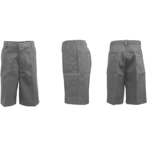 Case of [24] Boys Black Flat Front Shorts - Size 20