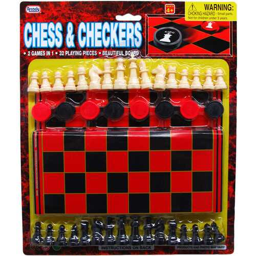 Case of [72] 48-Piece Chess And Checkers Play Set with Board