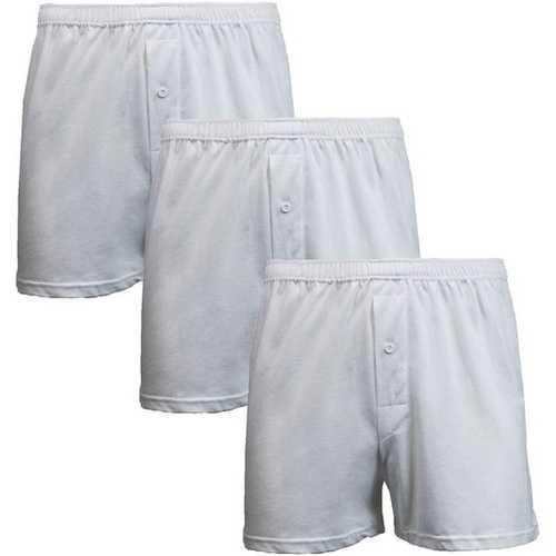 Case of [12] 3-Pack Men's Knit Boxer Shorts - Size Medium