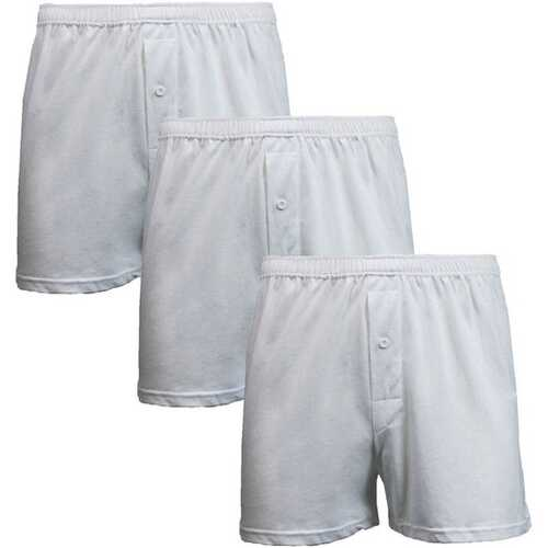 Case of [12] 3-Pack Men's Knit Boxer Shorts - Size Small