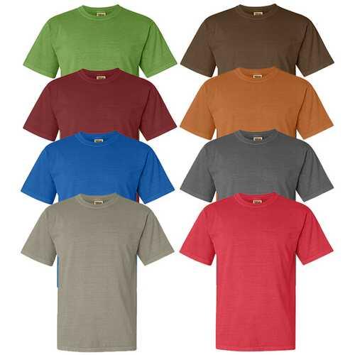 Case of [12] Irregular Garment Dyed Adult T-Shirts - Assorted - Size Medium