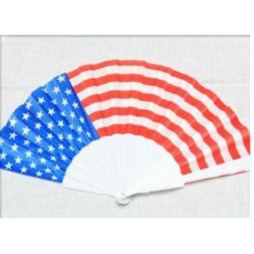 Case of [120] American Flag Hand Fan