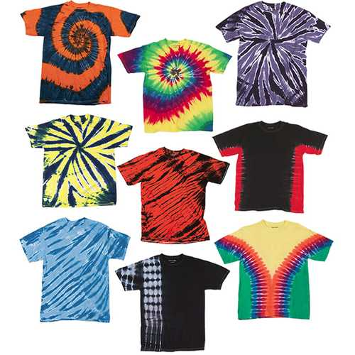 Case of [12] Irregular Youth Tie Dye T-Shirts - Assorted - Size Small