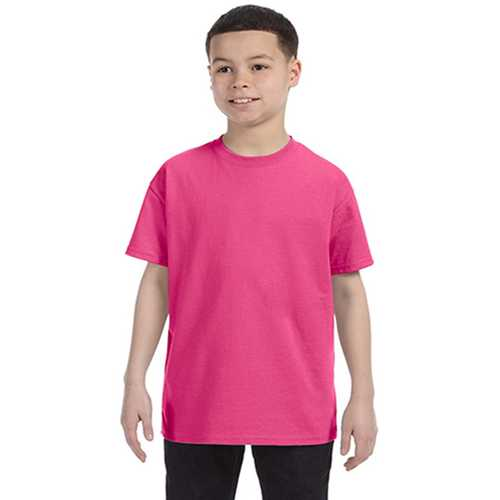 Case of [12] Anvil Youth Heavyweight T-Shirt - Hot Pink - Small