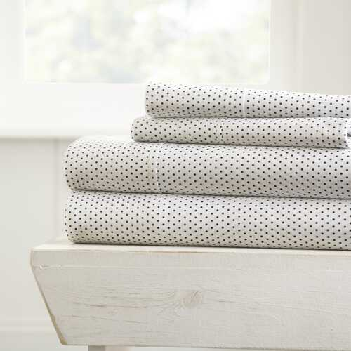Case of [16] King4 Piece Stippled Bed Sheet Set - Gray