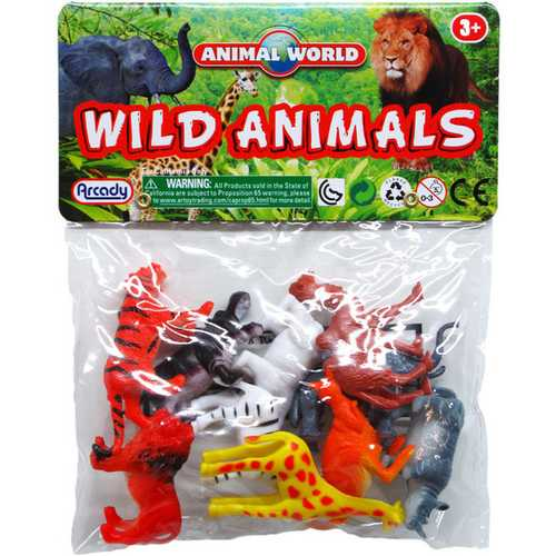 """Case of [112] 10-Piece 2"""" Assorted Wild Animals"""