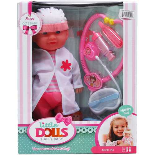 """Case of [12] 12"""" Soft Baby Doll with Sound and Accessories Set"""