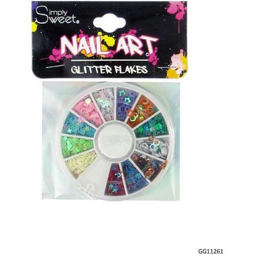 Case of [48] Nail Art Glitter Flake Wheel