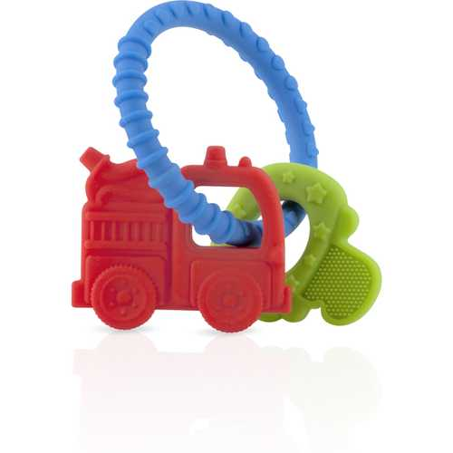 Case of [12] Nuby? Chewy Charms Silicone Teether, Boys