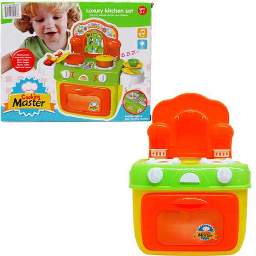 "Case of [12] 10.5"" Battery Operated Kitchen Stove Play Set"