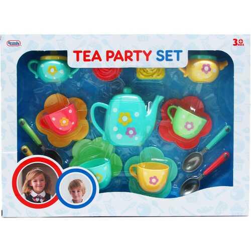 Case of [12] 17-Piece Pretend Tea Play Set