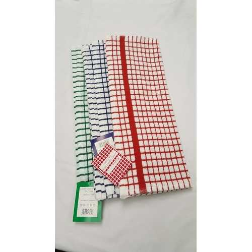 Case of [72] Luxury Terry Check Tea/Kitchen Towel