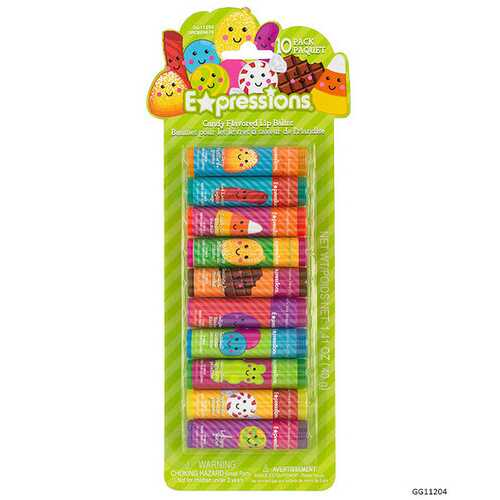 Case of [48] Expressions Girl Candy-flavored Lip Balms - 10 Piece