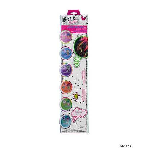 Case of [48] Girls' Rule! Glitter Hair Chalk Set - 6 Piece