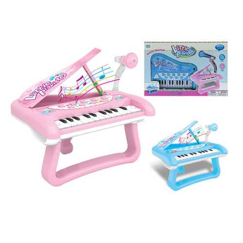 Case of [12] Musical Battery Operated Mini Grand Piano with light & Microphone