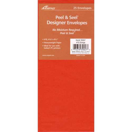 Case of [100] Peel & Seel Designer Envelope - Orange