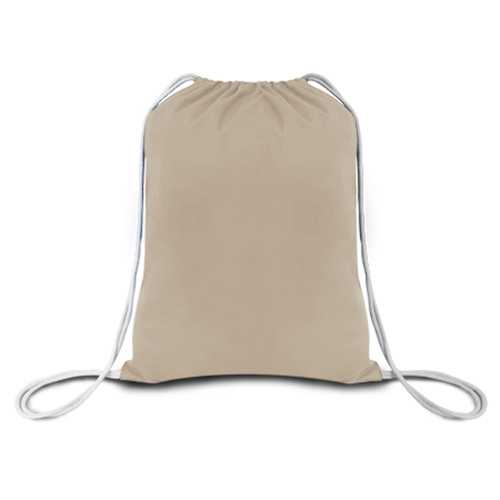 """Case of [216] 18"""" Economy Natural Drawstring Backpack - Canvas"""