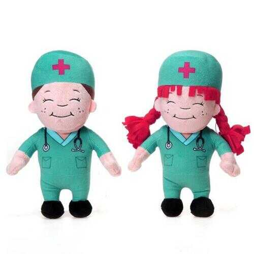 "Case of [36] 11"" Boy & Girl Doctor Plush Toy"
