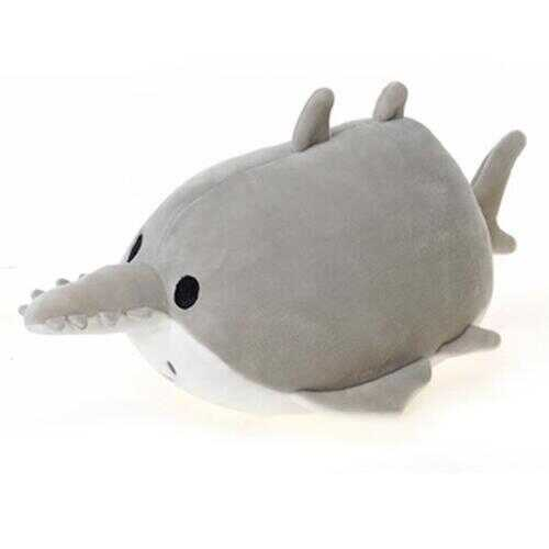 "Case of [24] 8"" Lil' Huggy Sawfish Plush Toy - Grey"
