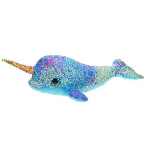 "Case of [24] 17"" Scribbleez Narwhal Plush Toy - Blue"