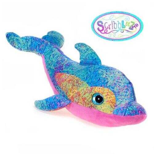 "Case of [24] 18"" Scribbleez Dolphin Plush Toy - Blue"