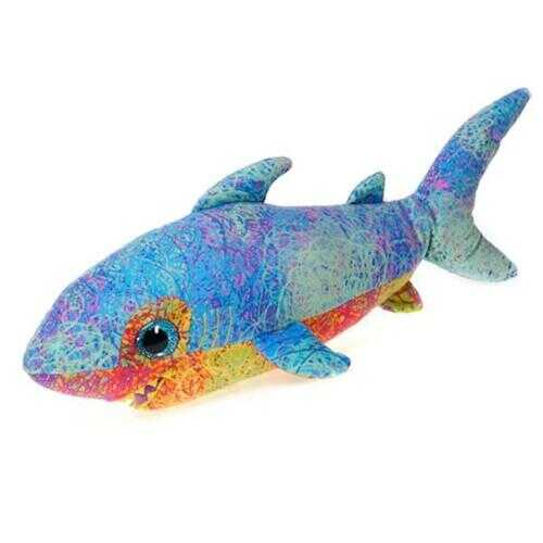 "Case of [24] 18"" Scribbleez Shark Plush Toy - Blue"