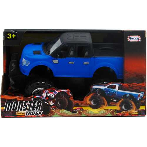 """Case of [12] 8.25"""" Assorted Color Friction Power Monster Truck"""