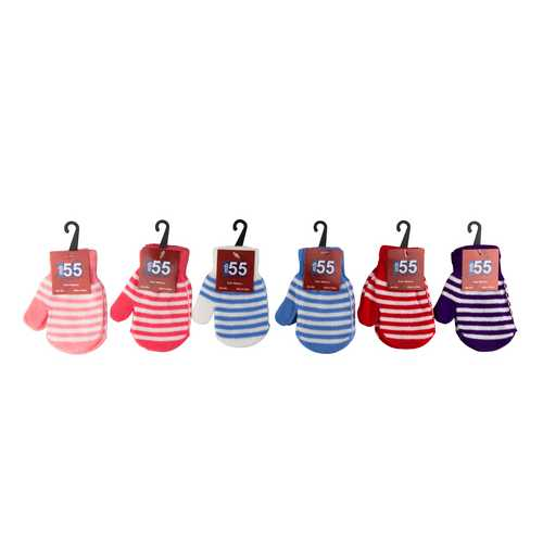 Case of [36] Kids Assorted Color Mittens