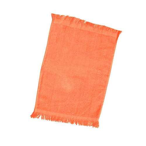Case of [240] Fingertip Towel Fringed Ends-Orange