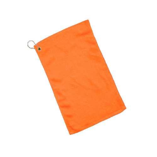 Case of [240] Grommet Fingertip Towel Hemmed Ends-Orange