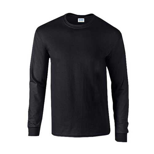 Case of [12] Gildan Irregular Mill Graded Longsleeve T-Shirts - Black - Medium