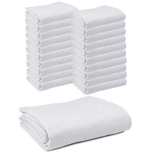 """Case of [20] Snagless Thermal Blanket 66"""" x 90"""" - White"""