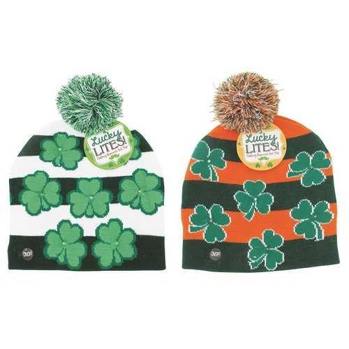 Case of [24] St. Patrick's Day Light Up Hat