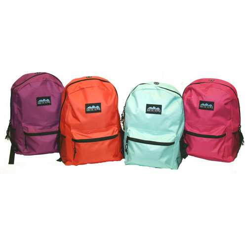 "Case of [24] 17"" Arctic Star Classic Backpack - 4 Assorted Colors"