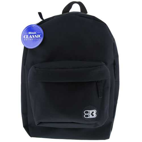 "Case of [12] 17"" Basic Black Backpack"