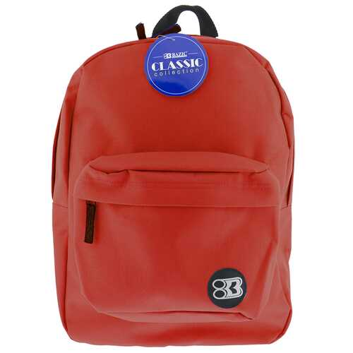 "Case of [12] 17"" Basic Red Backpack"