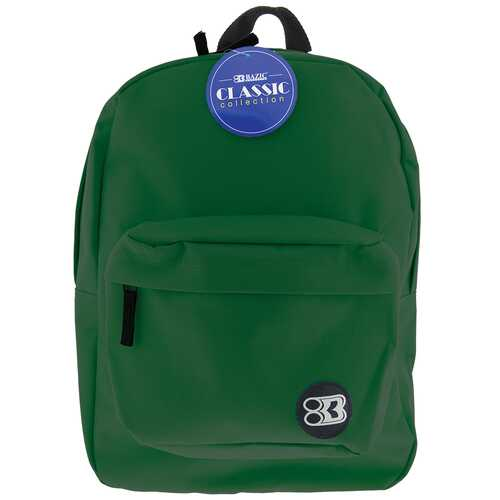 "Case of [12] 17"" Basic Green Backpack"