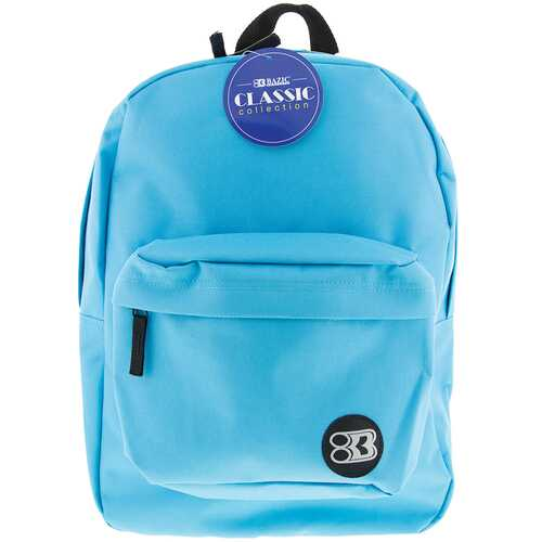 "Case of [12] 17"" Basic Cyan Backpack"