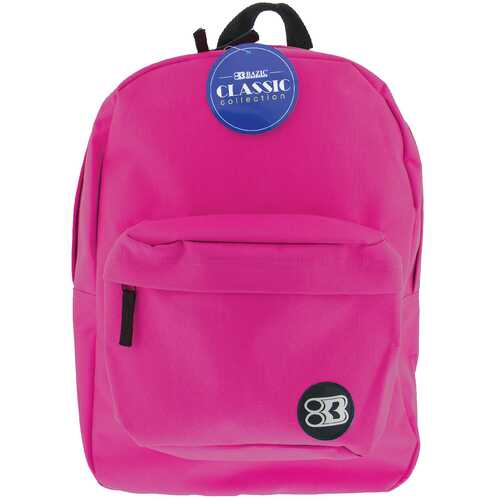 "Case of [12] 17"" Basic Fuchsia Backpack"