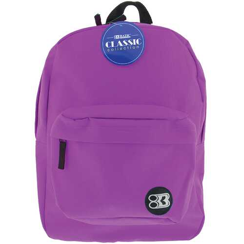 "Case of [12] 17"" Basic Purple Backpack"