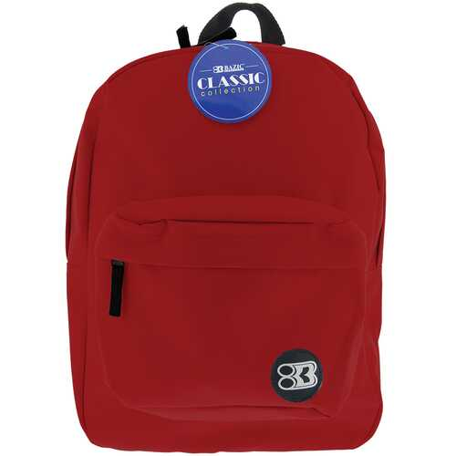 "Case of [12] 17"" Basic Burgundy Backpack"