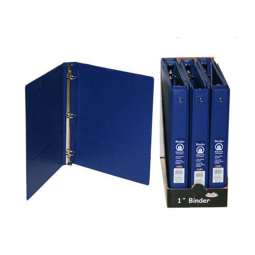 Case of [48] 1 Inch 3-Ring Binder - Blue
