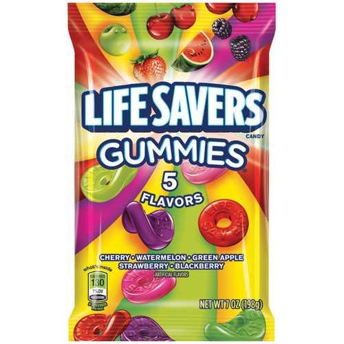 Case of [12] Lifesavers Gummies 5 Flavor Peg 7oz